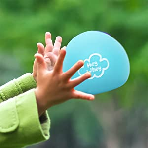 Child catching stress ball