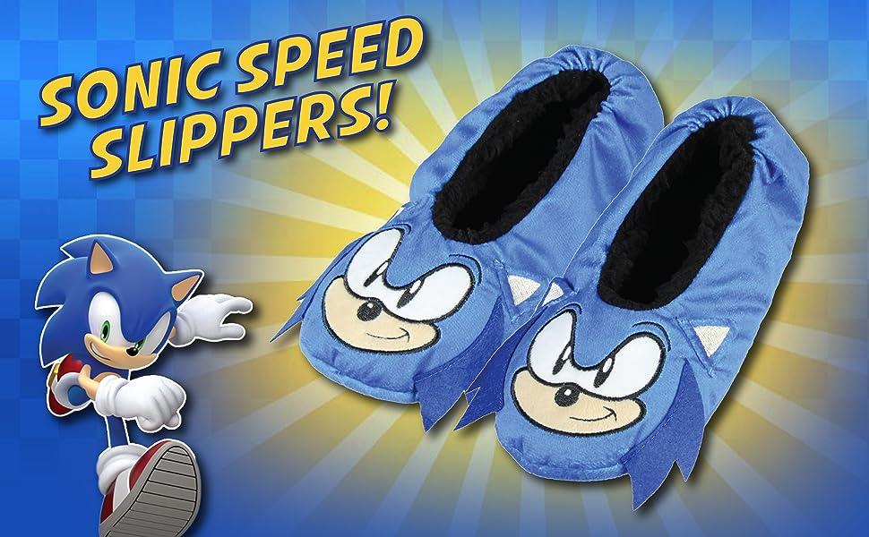 Sonic The Hedgehog Slippers 3D Character Slipper Socks No-Slip Sole