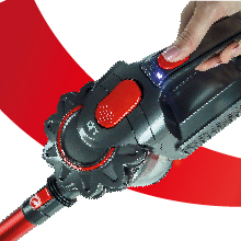 SAMBA Aspirador Vertical y de Mano Sin Cable Modelo Q7 - Aspirador Escoba con Cepillo Motorizado Flexible 180º, Luz LED, 2 Niveles de Potencia, Boquilla Combinada, Soporte de Pared: Amazon.es: Hogar