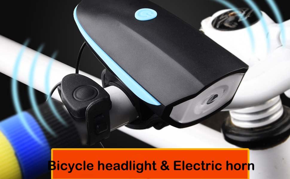 TiKeDa Bike Light and Horn Combo Set