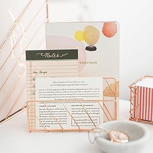 Rose Gold Letter Sorter