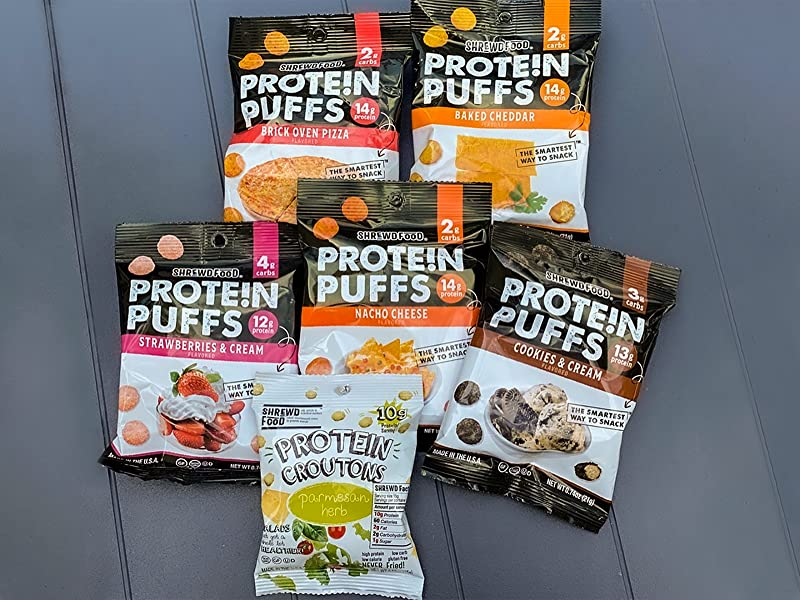 ShrewdFood 12 Count Variety Protein Puffs
