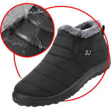 mens womens winter snow boots waterproof winter snow shoes for women men slip on non-slip snow shoes