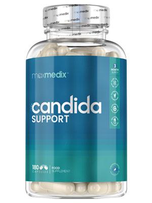 Probiótico Cándida Support 180 Cápsulas - Para la Flora Intestinal y la Cándida, Con Lactobacillus Acidophilus, Bífidobacterias y Prebioticos Ácido ...