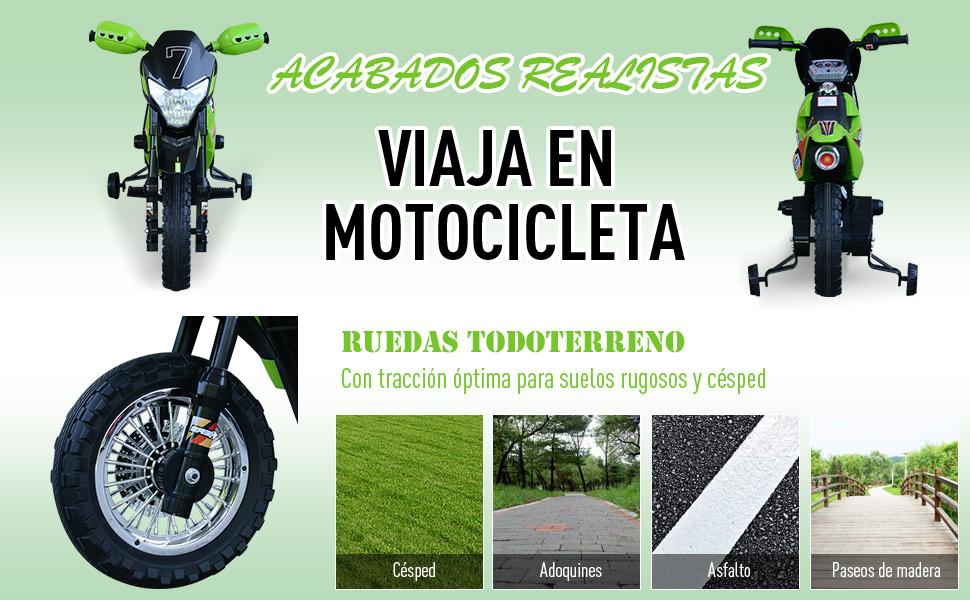 HOMCOM Moto Eléctrica Correpasillo Infantil Coche Triciclo sin Pedales para Niños 3+ Años Juguete Andador con Luces y Música Ruedas de Apoyo ...