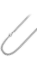 Curb Solid Link Stainless Steel Necklace