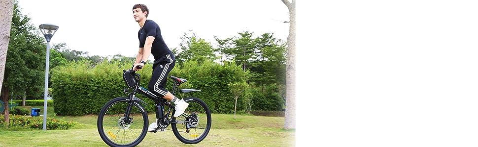 Bicicletta elettrica pieghevole da 26