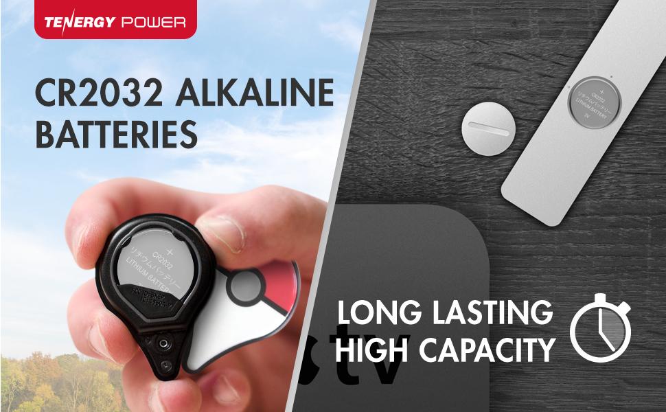 CR2032 Alkaline batteries long lasting high capacity