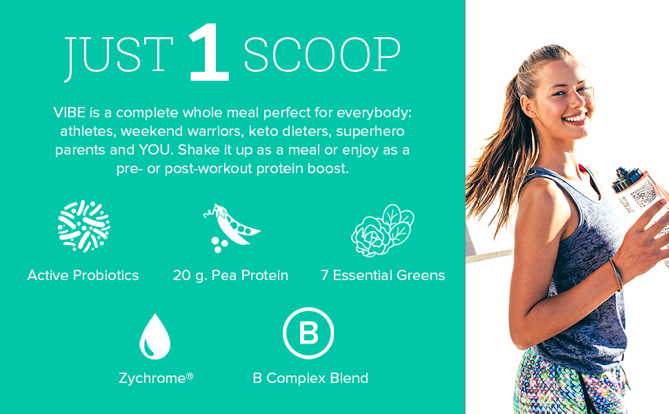 Our Vegan Protein and Greens Meal Replacement Shake contains 7 power-packed nutrient dense greens.