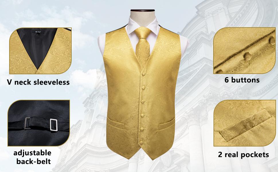 vest and tie set