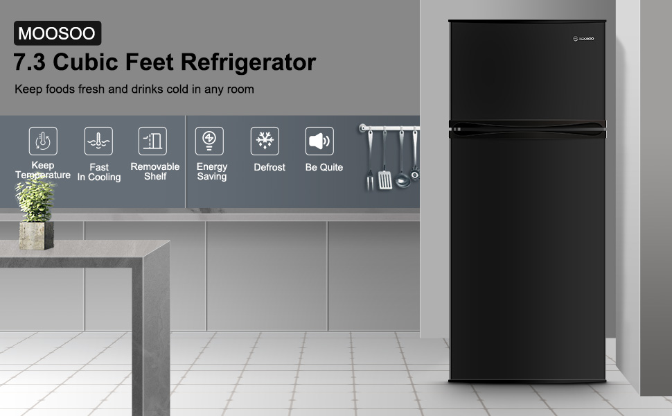 MOOSOO 7.3 Cu refrigerator