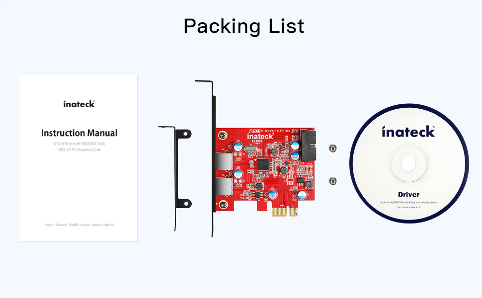 Inateck PCIe card
