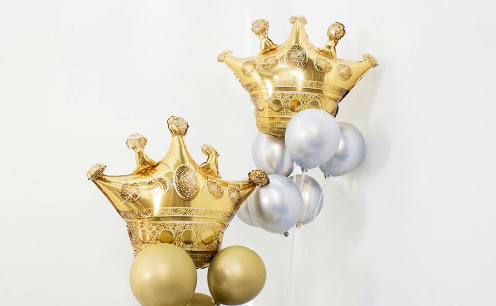 Crown Foil Balloon Birthday Party Decor Same Day Shipping Monday-Saturday