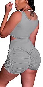 2 Piece Shorts Set for Women