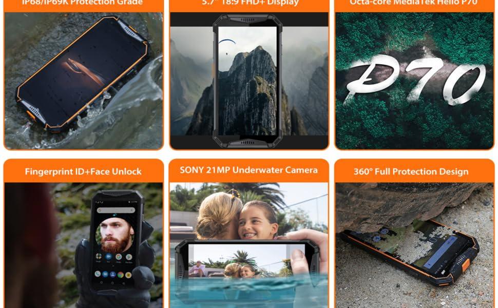 Amazon Com Ulefone Armor 3w Rugged Cell Phones Unlocked Military Grade Rugged Smartphone Android 9 0 5 7 64gb 6gb 10300mah 21mp Waterproof Camera Dual Sim 4g Unlocked Cell Phone Nfc Black