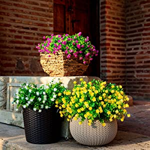 artificial flowers for outdoors