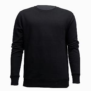 black sweatshirt sport warm fleece protection cool