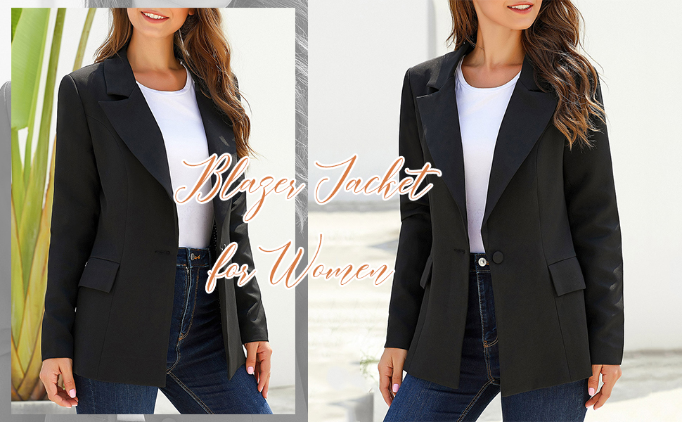 women casual work office blazer jacket suit