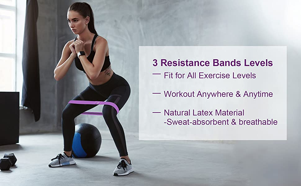 Women's Exercise Resistance Workout Bands Resistance band leg butt Booty women exercise loops
