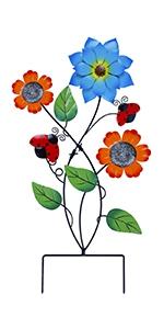 "28"" Flowers Garden Stake Decor"