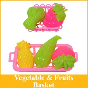 Basket Vegetable Fruits Apple Mango Grapes Banana Corn Pineapple