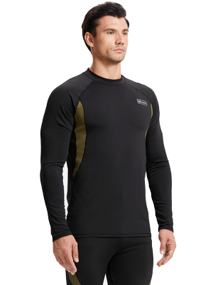 romision Mens Thermal Underwear Set Insulated Longjohns Top/&Bottoms Wool Sweat Quick Drying Thermo Base Layer for Winter