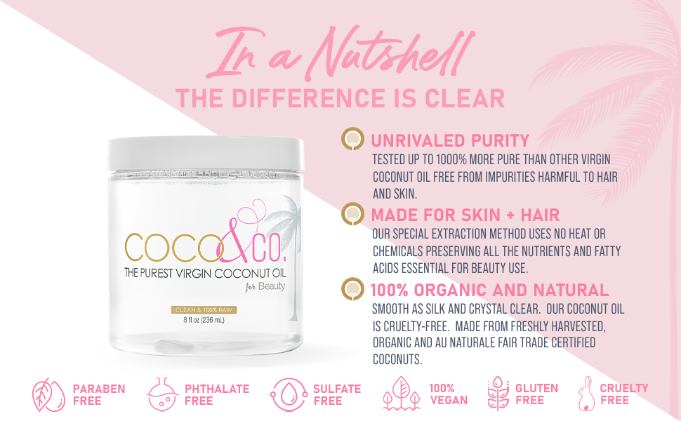 in a nutshell coconut oil for beauty skin hair