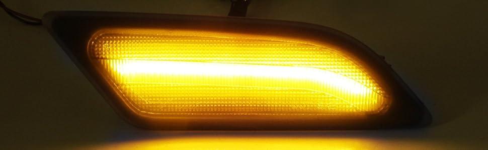 Smoked Lens Amber LED Front Side Marker Light 2012-14 Mercedes W204 LCI C250 C300 C350 Sedan/Coupe