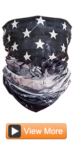 Face Cover Mask Bandana Neck Gaiter Scarf for Running Cycling Fishing