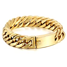 Gold Plated stainless steel bracelet