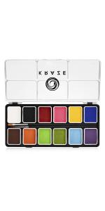 Kraze 12 color face paint palette