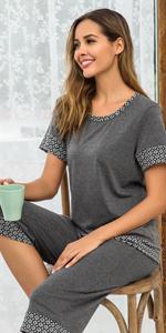 capri pajama sleepwear set