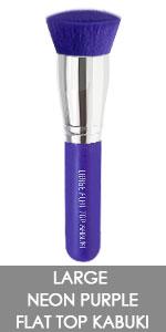 large purple kabuki brush