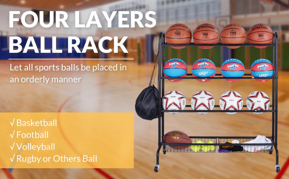 Basketball rack