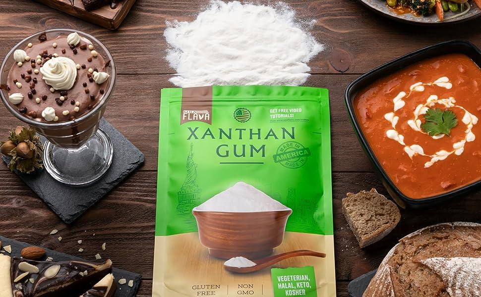 xanthan gum powder, gluten free, food thickener, xantahn, zanthan, xanthum, non gmo, vegetarian