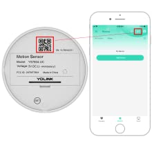 Scan the QR Code on YoLink Motion Sensor to add into the YoLink App.  You can customize its name