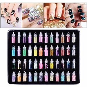 nail art glitter set