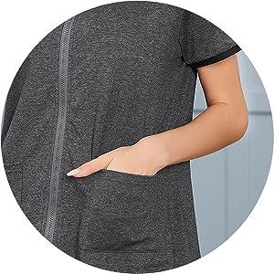 short sleeve, pockets