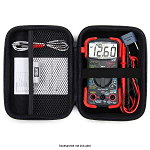 case open with multimeter