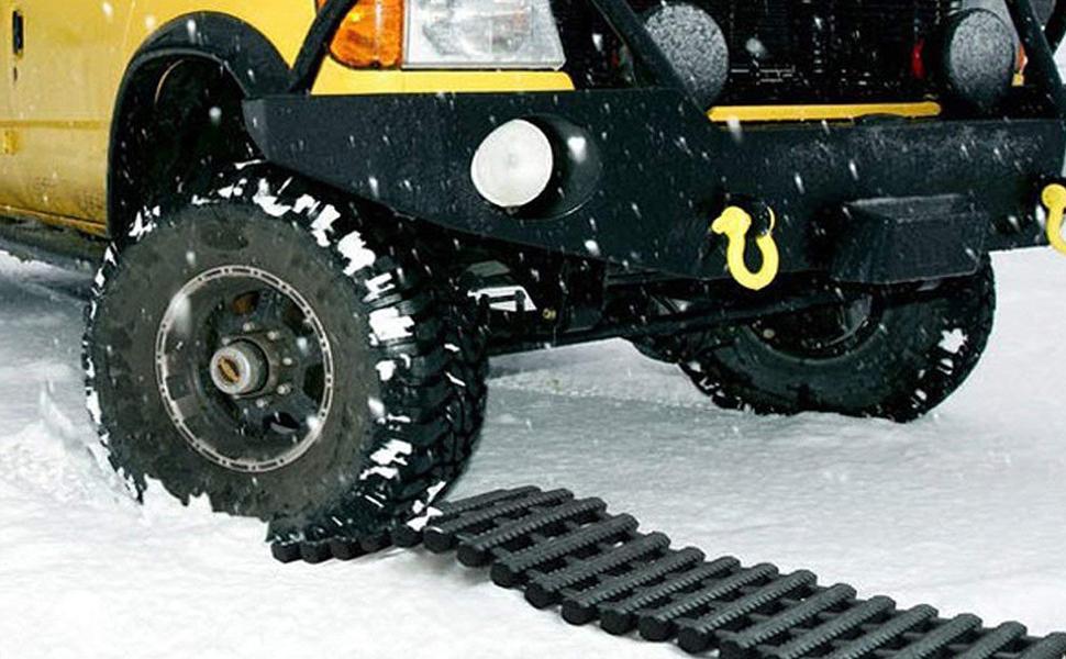 Jolitac 2 Stück Traktionshilfe Anfahrhilfe Anfahrtshilfe Set Sandmatte Tracking Mat Bei Schnee Eis Oder Matsch 80 X 22 Cm Auto
