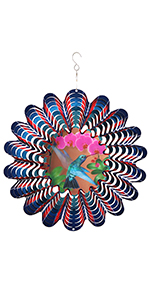 shimmering wind and weather wind spinners for garden and yard