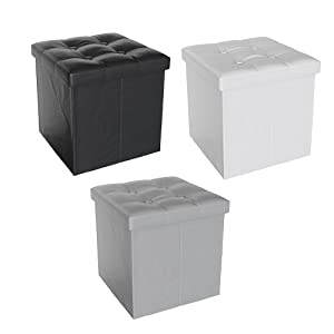 Vicco Sitzhocker Sitzw/ürfel Hocker Aufbewahrungsbox faltbar 38x38x38 cm