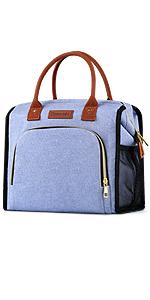 Wide-open lunch bag