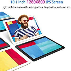 Tablet 10.1 Inch Android 9.0 3G Phone Tablets with 32GB ROM Dual Sim Card 2MP+ 5MP Camera, WiFi, Bluetooth, GPS, Quad Core, HD Touchscreen, Support 3G Phone Call(Silver) 385d1f0e d539 4b11 ae3f d9041bc8b122
