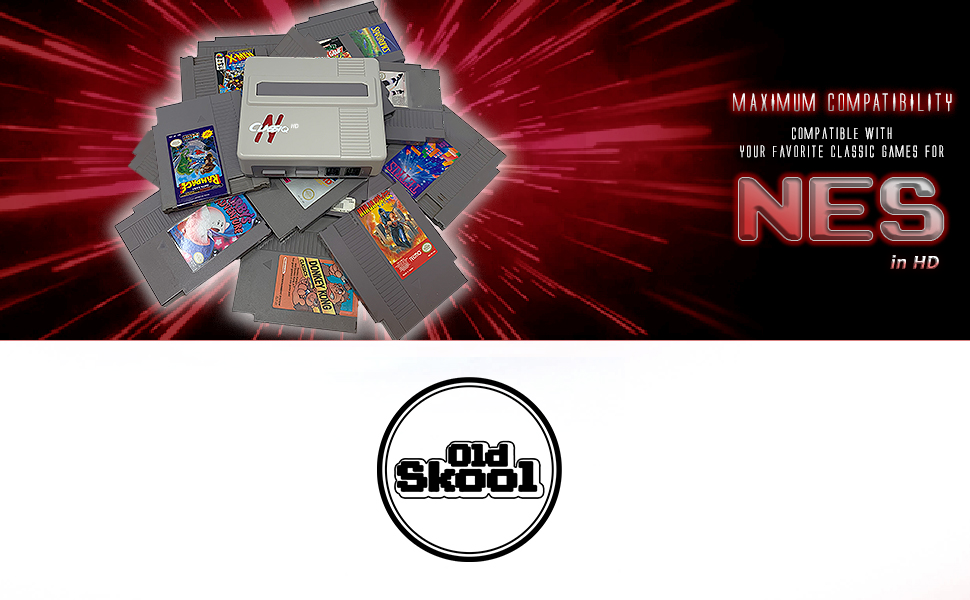 Old Skool Classiq N HD Retro Gaming System Compatibly with NES SNES Videogame Cartridges