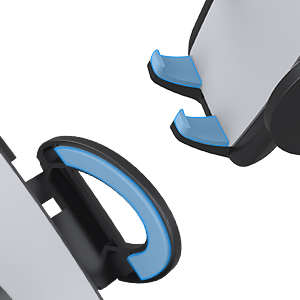 Soft-touch surface design with soft rubber protects your phone and air vent. Save car phone holder.
