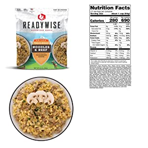 ReadyWise Noodles and Beef