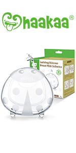 Haakaa Wearable Ladybug Breast Milk Collector Combo for Breastfeeding, 1pc