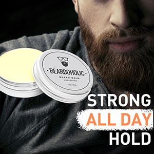 Beardoholic Beard Balm – 100% Natural With Strong Hold That Lasts All Day - Shapes and Styles Beard