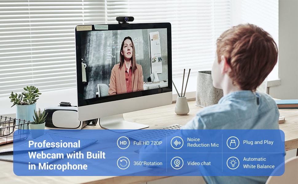 720p webcam